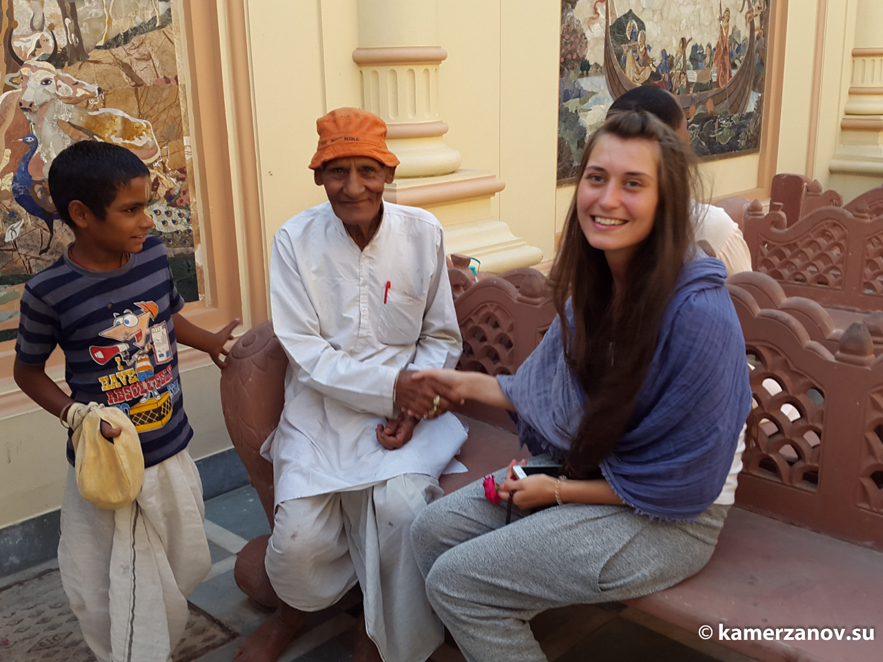 Ю в обители кришнаизма - во Вриндаване